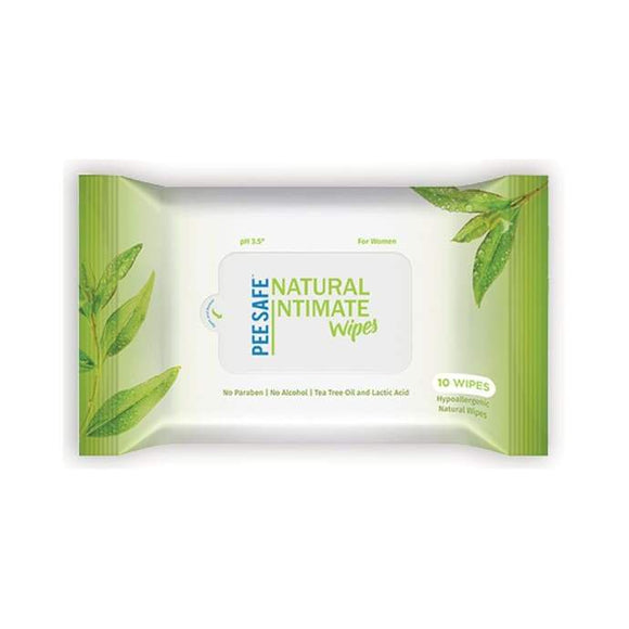 Peesafe Natural Intimate Wipes