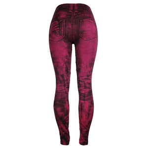 Vaquero Leggings Streetwear Push Up