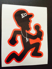 "SOLD OUT SIX KG 3"" Vinyl STICKER's (RED)"