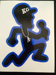 "SOLD OUT THREE KG 4"" Vinyl STICKER's (BLUE))"