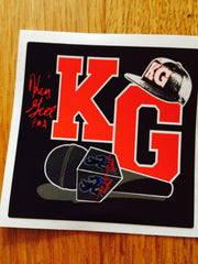 "Good Old KG Sticker! 3"" Square Vinyl"
