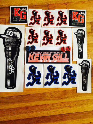 SUPER KG STICKER AND PIN PACK!