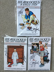 Headlocked SET of 3 KICKSTARTER Editions, SIGNED by JERRY LAWLER