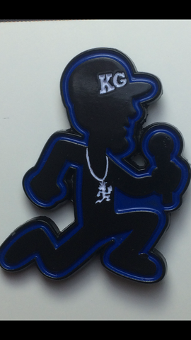 "KG BLUE MICMAN 1.25"" Enamel Lapel Pin *Limited Edition*"