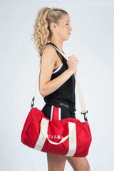 Unisex Barrell Gym Bag Red
