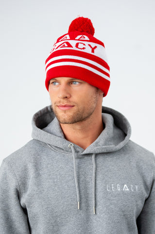 Legacy Pom Knit Red