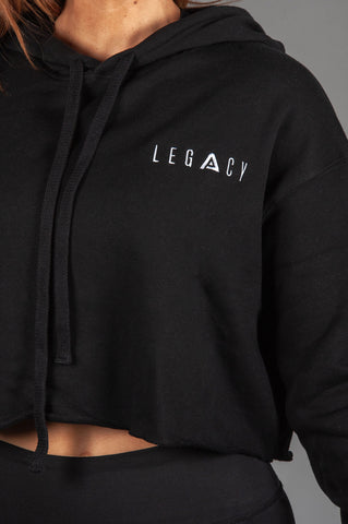 Unleashed Cropped Hoodie Black