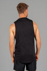 Layered Logo Arm Drop Tank Black