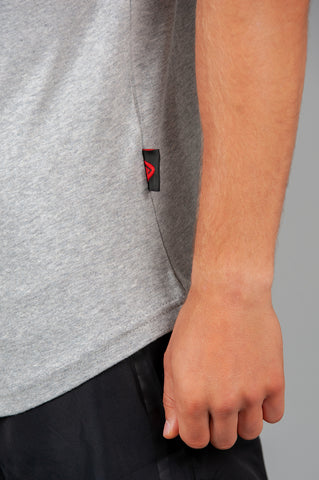 Layered Logo Armdrop Tank Grey