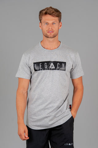 Boxed Logo Grey T shirt