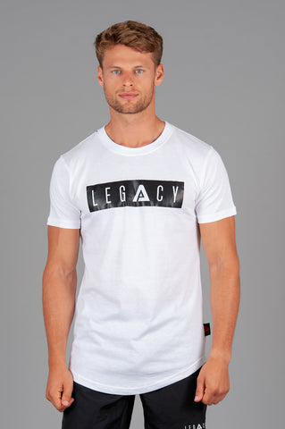 Boxed Logo White T shirt