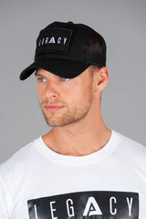 Patch Trucker Cap Black