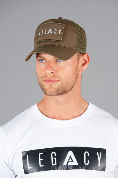 Patch Trucker Cap Military Green