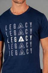 Layered Logo Navy T shirt