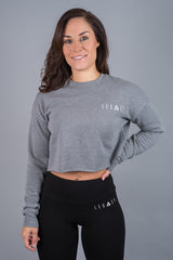 Unleashed Cropped Jumper Deep Heather