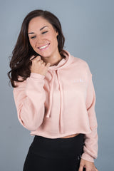 Unleashed Cropped Hoodie Peach