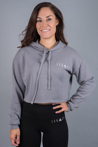 Unleashed Cropped Hoodie Storm Grey