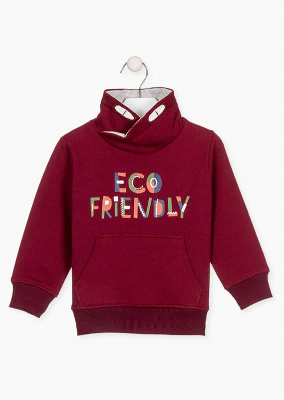 "Sudadera Niño Granate ""ECO FRIENDLY"" Original de Losan"