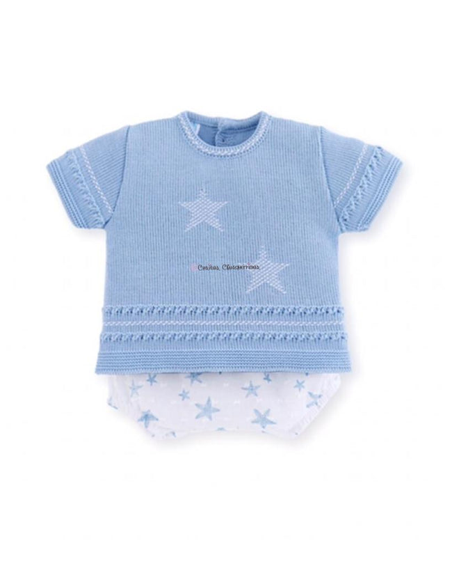 Conjunto bebe niño estrellas mar azul Under the Sea de Mac Ilusion