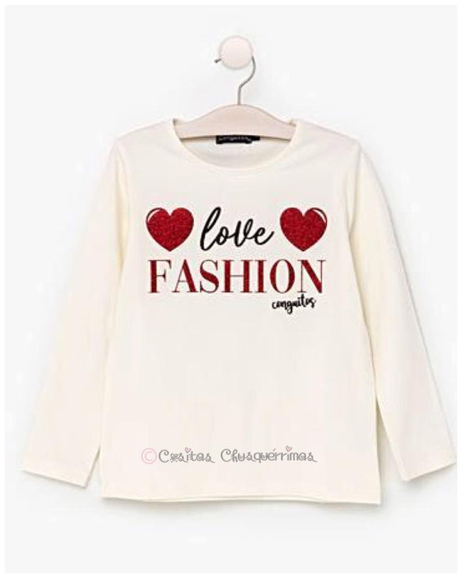 "Camiseta ""LOVE FASHION"" de Conguitos"