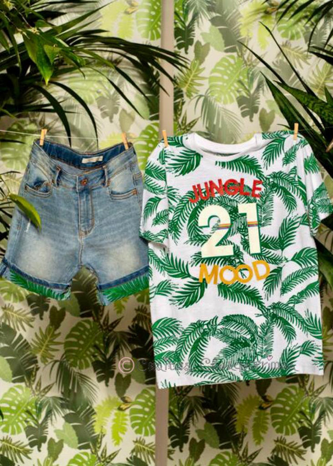 "*Camiseta manga corta niño ""Jungle 21 Mood"" de Birba Trybeyond"