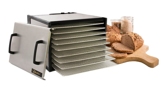 Stainless (9 tray) Excalibur Dehydrator. NZ distributor. Fee freight & book