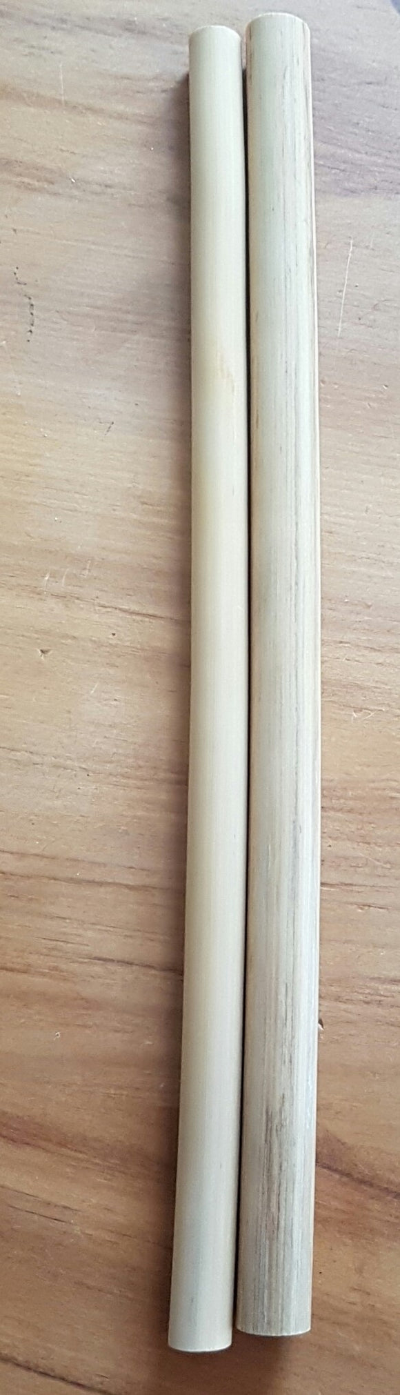 2 x Natural Bamboo straws