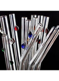 Decorative Dots glass straw