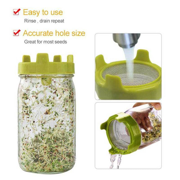 Good Life Sprouting Jar Kit 1L (INCLUDES STARTER SEEDS)