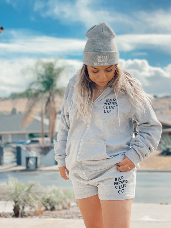 Bad Moms Club Co. Shorts in Grey
