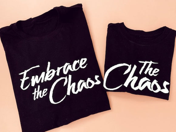 Embrace the Chaos Tee in Black
