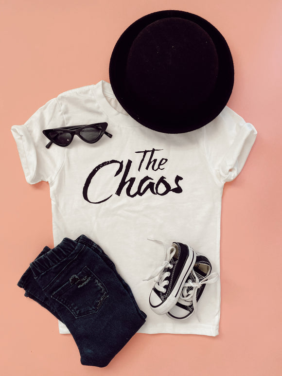 The Chaos Kids Tee in white