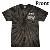 Mom's World Staff Adult Black Swirl Tee