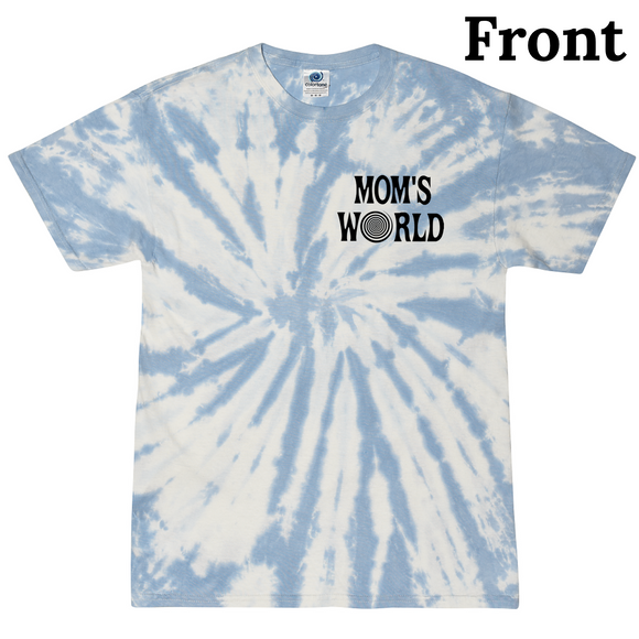 Mom's World Kids Blue Swirl Tee