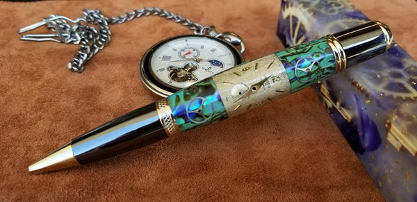 Jewlrey grade abolone watch part pen one of a kind $120 +shipping
