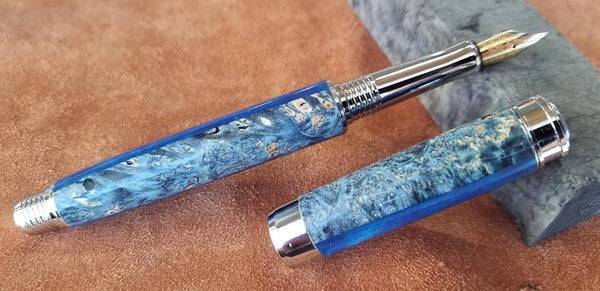 Leveche fountain pen resin and burl hybrid $75 + shipping