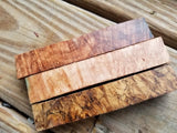 Maple Burl Blanks by The Angry Beaver 7/8 X 7/8