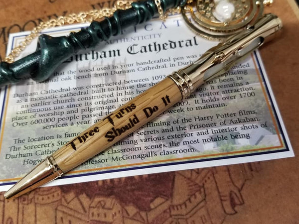 Durham Cathedral Handmade Authentic Wood Pens Time Turner