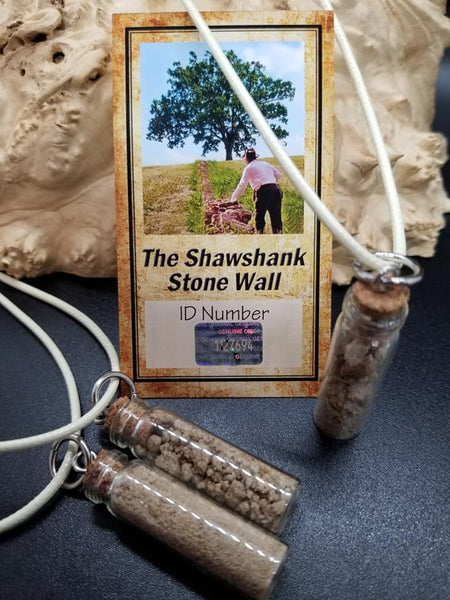 Shawshank stone vial necklace