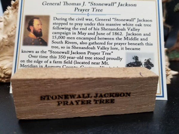 Stonewall jackson #3 crafting/display piece engraved