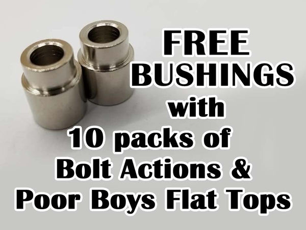 FREE Bushings with 10 packs