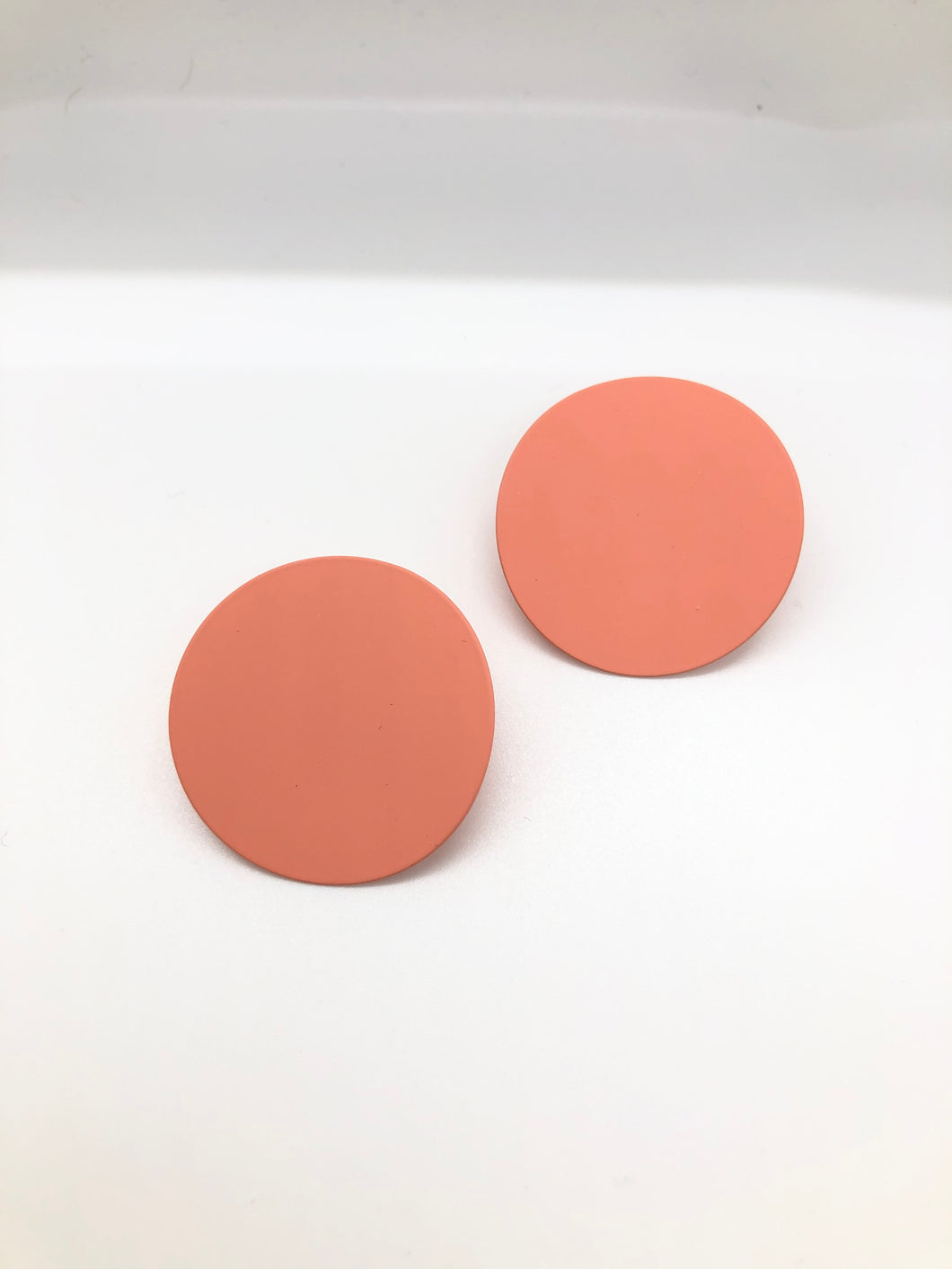 Pink Clay Studs