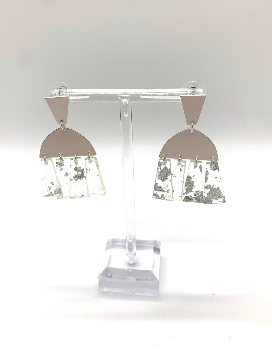 Silver Tier Drop Earring