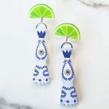 Clase Azul Top Shelf Tequila Earrings with Swarovski Crystals