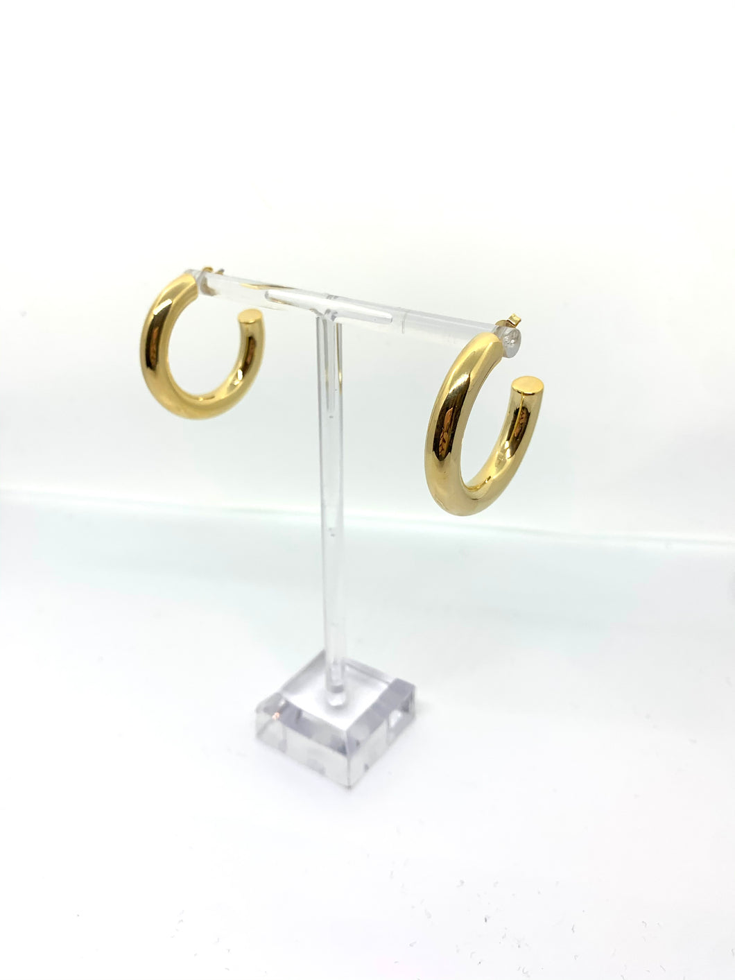 Skinny Gold Hoops