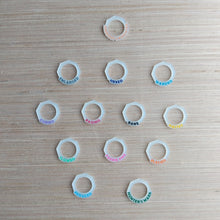Load image into Gallery viewer, 5E Spell Effect Rings in Milky White Acrylic (DIY)