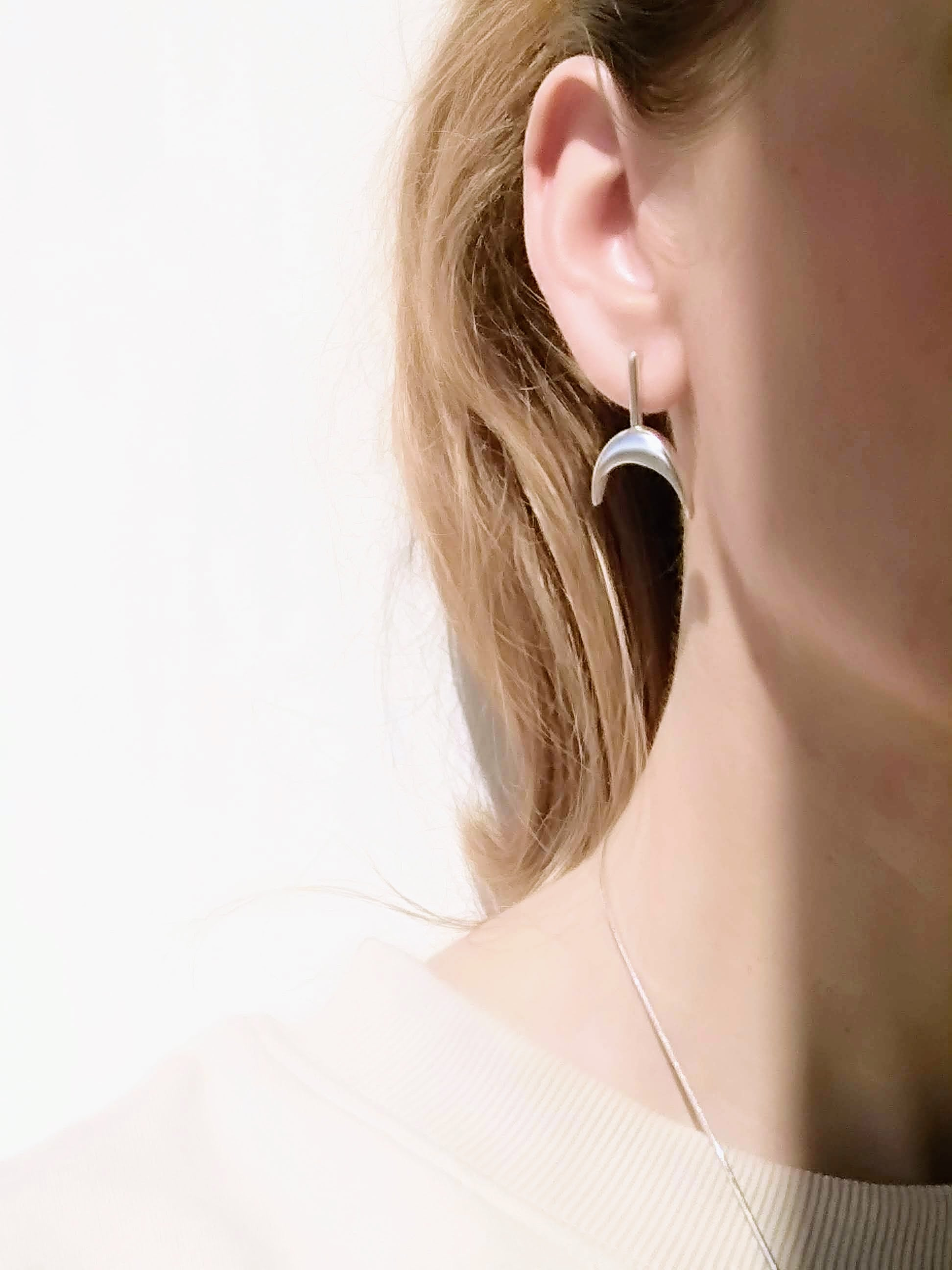 Sterling Silver Miro Post Earrings
