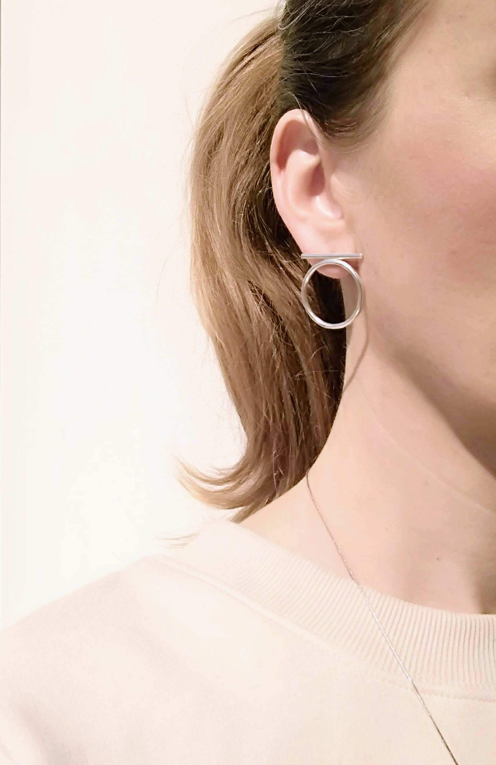 Sterling Silver Line & Hoop Earrings