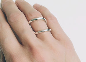 Sterling Silver Swirl Ring | Double Band Ring
