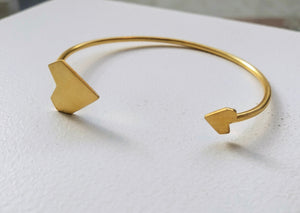 24K Gold Plated Geometric Heart cuff